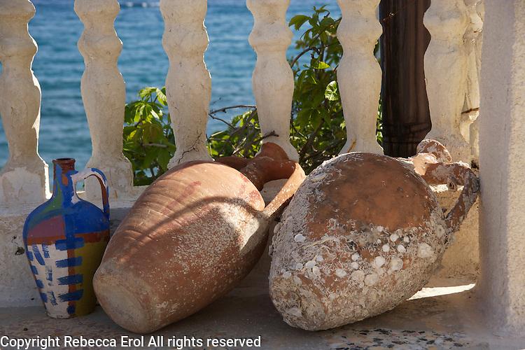 Terracotta urns on the Karaburun Peninsula, Turkey