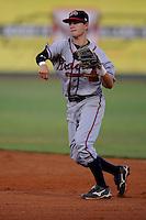 Matt Weaver Danville Braves (Atlanta Braves) fields and throws at Joe O'Brien Stadium August 17, 2009 in Elizabethton, TN (Photo by Tony Farlow/Four Seam Images)