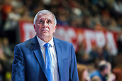 22nd March 2018, Aleksandar Nikolic Hall, Belgrade, Serbia; Turkish Airlines Euroleague Basketball, Crvena Zvezda mts Belgrade versus Fenerbahce Dogus Istanbul; Head Coach Zeljko Obradovic of Fenerbahce Dogus Istanbul looks on during the match