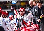 Stockholm 2013-12-28 Ishockey Hockeyallsvenskan Djurg&aring;rdens IF - Almtuna IS :  <br /> Almtuna Alen Bibic reagerar<br /> (Foto: Kenta J&ouml;nsson) Nyckelord:  portr&auml;tt portrait