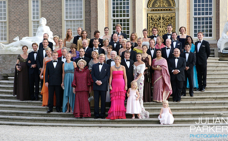 Members of European Royal House's, attend a Reception at Het Loo Palace in Apeldoorn, to celebrate the 40th Birthday of Crown Prince Willem Alexander, The Prince turned forty in April earlier this year.