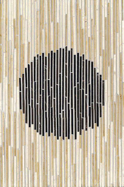 Name: Ikat<br /> Style: Contemporary<br /> Product Number: CB0727<br /> Description: Ikat in Emperador Dark, Chinese Black, Crema Marfil, Renaissance Bronze (p)