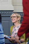 Lauren Child, children's writer and creator of Charlie and Lolka and Clarice Bean, at the Sheldonian Theatre during the FT Weekend Oxford Literary Festival, Oxford, UK. Sunday 30 March 2014.<br /> <br /> PHOTO COPYRIGHT Graham Harrison<br /> graham@grahamharrison.com<br /> <br /> Moral rights asserted.