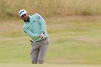 Graeme McDowell (NIR) chips onto the 14th green during Thursday's Round 1 of the 2018 Dubai Duty Free Irish Open, held at Ballyliffin Golf Club, Ireland. 5th July 2018.<br /> Picture: Eoin Clarke | Golffile<br /> <br /> <br /> All photos usage must carry mandatory copyright credit (&copy; Golffile | Eoin Clarke)