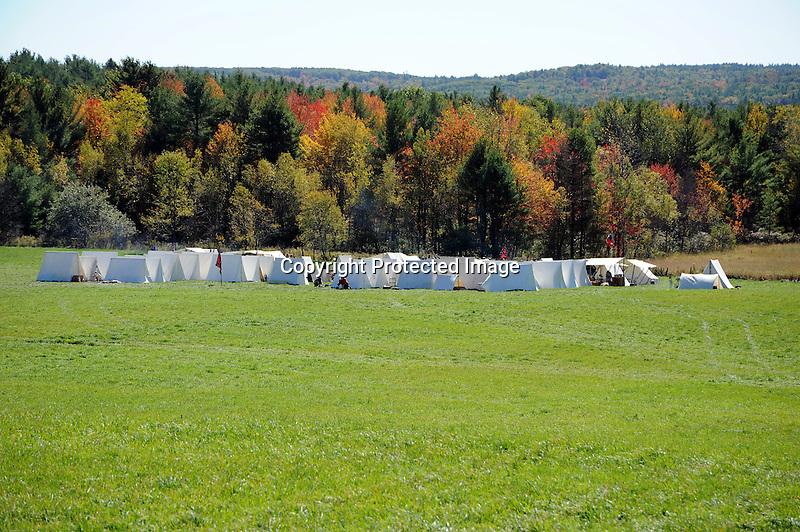 Civil War Reenactment Confederate Army Camp