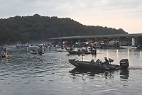 BASS TOURNAMENTS RETURN<br />Anglers leave Prairie Creek park before sunrise on Saturday June 20 2020 for the start of a Beaver Lake Elite Series bass tournament at the reservoir. The event was among the first large tournaments held at the lake since March when the Army Corps of Engineers suspended fishing tournaments that involve large groups. More than 100 anglers compete in Beaver Lake Elite Series tournaments. Go to nwaonline.com/200621Daily/ to see more photos.<br />(NWA Democrat-Gazette/Flip Putthoff)