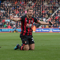 Bournemouth's Ryan Fraser protesting after been fouled by Manchester United's Paul Pogba<br /> <br /> Photographer David Horton/CameraSport<br /> <br /> The Premier League - Bournemouth v Manchester United - Saturday 3rd November 2018 - Vitality Stadium - Bournemouth<br /> <br /> World Copyright &copy; 2018 CameraSport. All rights reserved. 43 Linden Ave. Countesthorpe. Leicester. England. LE8 5PG - Tel: +44 (0) 116 277 4147 - admin@camerasport.com - www.camerasport.com