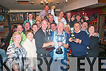 With a total of 6 flounder,winning angler Tony Milner,Tralee(front centre)hold's the Tim Ward Memorial cup,which includes the memory of Sean Tierney and Leo Foley also,at the 8th Annual running of the well supported fishing competition which was held at Banna beach last Saturday and after for a generous prize giving in Lenanes bar,Rock St,Tralee..