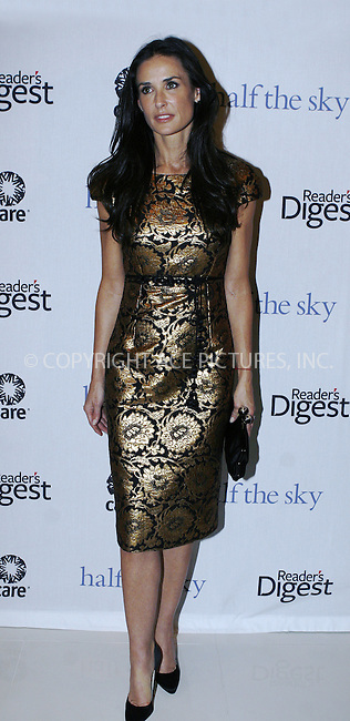 WWW.ACEPIXS.COM . . . . .  ....September 23 2009, New York City....Demi Moore attends the ''Half The Sky'' book party by Reader's Digest and C.A.R.E. at Moura Starr  on September 23, 2009 in New York City.....Please byline: NANCY RIVERA- ACE PICTURES.... *** ***..Ace Pictures, Inc:  ..tel: (212) 243 8787 or (646) 769 0430..e-mail: info@acepixs.com..web: http://www.acepixs.com