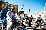 Road traffic in Afghanistan can be hectic at times, as pictured here in Herat.
