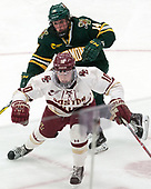 Kali Flanagan (BC - 10), Ali O'Leary (UVM - 14) -  The Boston College Eagles defeated the University of Vermont Catamounts 4-3 in double overtime in their Hockey East semi-final on Saturday, March 4, 2017, at Walter Brown Arena in Boston, Massachusetts.