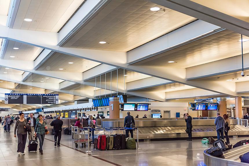 Baggage claim in the Atlanta airport, Georgia, USA