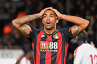 Callum Wilson of AFC Bournemouth can't believe his second half miss from close range during AFC Bournemouth vs Crystal Palace, Premier League Football at the Vitality Stadium on 1st October 2018