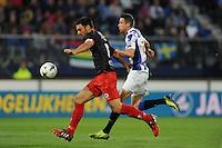 VOETBAL: HEERENVEEN: Abe Lenstra stadion 23-08-2014, SC Heerenveen - Excelsior uitslag 2 - 0, Mark Uth in duel, ©foto Martin de Jong