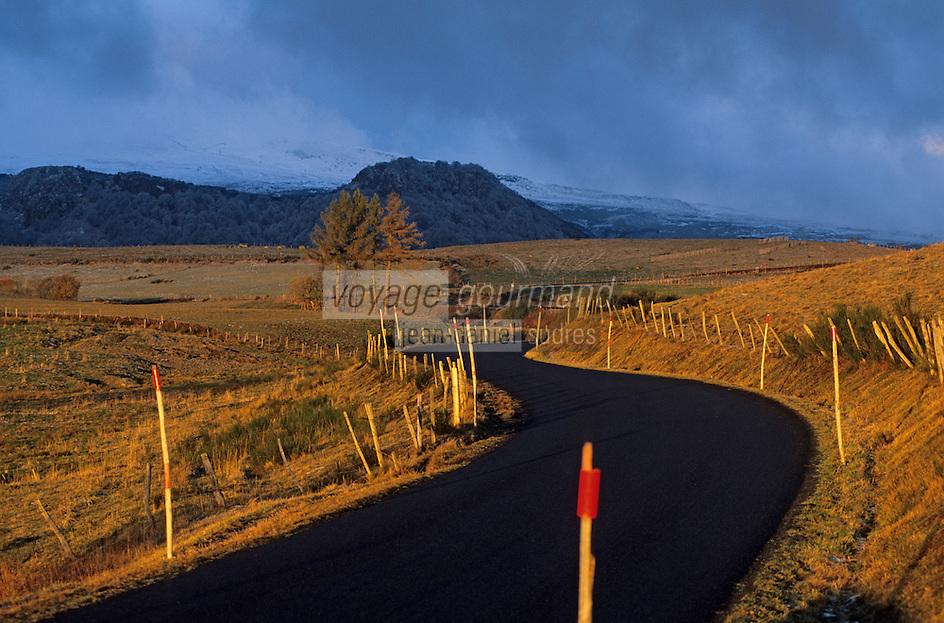 Europe/France/Auverne/63/Puy-de-Dôme/Parc Naturel Régional des Volcans/Les Monts Dore/Env. de Besse-en-Chandesse: Route de montagne dans le massif