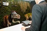 A raptor robot debuts working at the front desk of Henn-na (Weird) Hotel on March 15, 2017, Chiba, Japan. The hotel is managed by robots who can attend guest in English, Chinese and Japanese language. Every room has a concierge robot ''Tapia'' set to talk or make a request from guests such as turn on or off TV or provides weather forecast and news. Henn-na hotel opens its second branch in Chiba Prefecture, near to Tokyo Disney from March 15, which rooms cost start from 17,000 JPN per night. The first robot hotel opened in 2015 in Nagasaki. (Photo by Rodrigo Reyes Marin/AFLO)