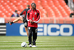 03 April 2003: Fourteen year old Freddy Adu during pregame warmups. DC United defeated the San Jose Earthquakes 2-1 at RFK Memorial Stadium in Washington, DC.