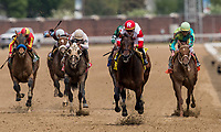 LOUISVILLE, KY - MAY 04: Backyard Heaven #4 with Irad Ortiz Jr. up wins the Alysheba Stakes at Churchill Downs on May 4, 2018 in Louisville, Kentucky. (Photo by Alex Evers/Eclipse Sportswire/Getty Images)