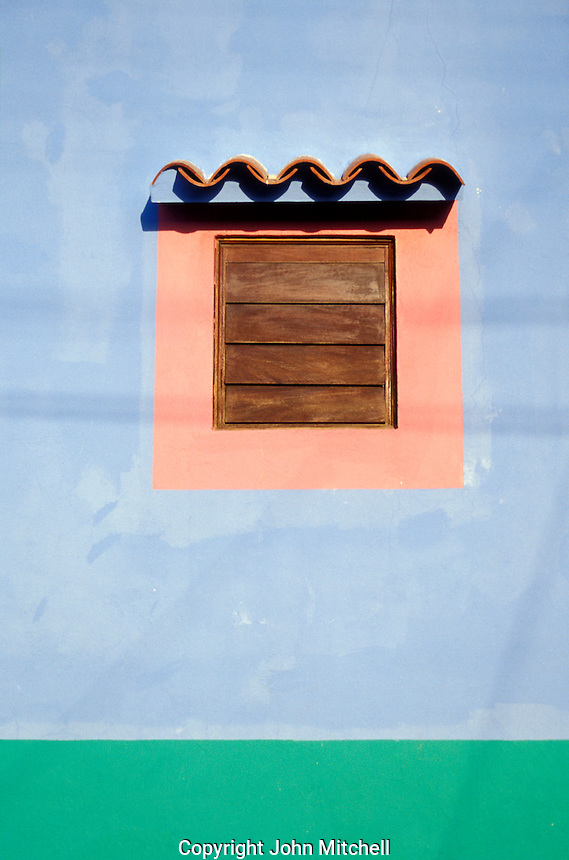 Window of a house on Gran Roque island, Archipielago Los Roques, Venezuela