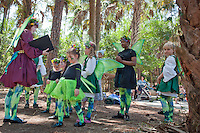 Faeries from the Kellyn Celtic Arts Irish Dance Academy rehearse in the woods before their on stage performance during the third annual Florida Faerie Festival in Bonita Springs, Florida, USA, March 19, 2011. Photo by Debi Pittman Wilkey