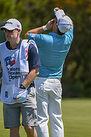 Padraig Harrington (IRL) puts eye drops in his eyes after sinking his putt on 17 during day 1 of the Valero Texas Open, at the TPC San Antonio Oaks Course, San Antonio, Texas, USA. 4/4/2019.<br /> Picture: Golffile | Ken Murray<br /> <br /> <br /> All photo usage must carry mandatory copyright credit (© Golffile | Ken Murray)