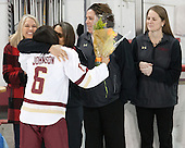Kaliya Johnson (BC - 6), Kelli Johnson - The Boston College Eagles defeated the visiting Providence College Friars 7-1 on Friday, February 19, 2016, at Kelley Rink in Conte Forum in Boston, Massachusetts.
