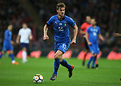 27th March 2018, Wembley Stadium, London, England; International Football Friendly, England versus Italy; Daniele Rugani of Italy on the ball