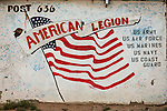 U.S. flag painted on the side of Post 636 of the American Legion hall, Boron, Calif.