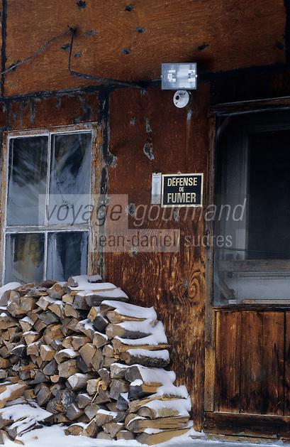 Amérique/Amérique du Nord/Canada/Quebec/Fjord de Saguenay/Anse-à-Didier : Chalet