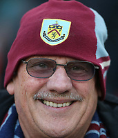 Burnley fan<br /> <br /> Photographer Rob Newell/CameraSport<br /> <br /> The Premier League - West Ham United v Burnley - Saturday 3rd November 2018 - London Stadium - London<br /> <br /> World Copyright &copy; 2018 CameraSport. All rights reserved. 43 Linden Ave. Countesthorpe. Leicester. England. LE8 5PG - Tel: +44 (0) 116 277 4147 - admin@camerasport.com - www.camerasport.com