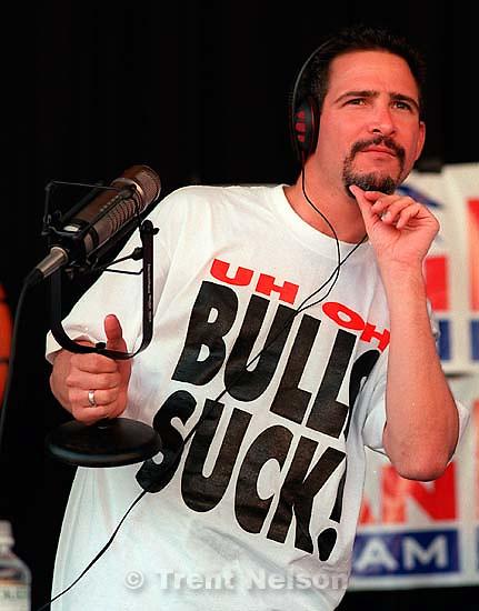Jim Rome &quot;The Jungle&quot; sports talk-radio show tour stop at the Gallivan Center.<br />