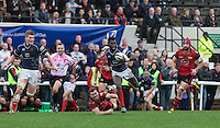Matt Williams of London Scottish in action during the Greene King IPA Championship match between London Scottish Football Club and Jersey at Richmond Athletic Ground, Richmond, United Kingdom on 7 November 2015. Photo by Andy Rowland.