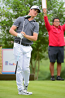 Cody Gribble (USA) watches his tee shot on 18 during round 1 of the Valero Texas Open, AT&amp;T Oaks Course, TPC San Antonio, San Antonio, Texas, USA. 4/20/2017.<br /> Picture: Golffile | Ken Murray<br /> <br /> <br /> All photo usage must carry mandatory copyright credit (&copy; Golffile | Ken Murray)