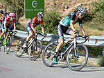 Emanuel Buchmann (GER) Bora-Hansgrohe and Jon Izaguirre Insausti (ESP) Bahrain-Merida climb Sierra de la Alfaguara during Stage 4 of the La Vuelta 2018, running 162km from Velez-Malaga to Alfacar, Sierra de la Alfaguara, Andalucia, Spain. 28th August 2018.<br /> Picture: Colin Flockton | Cyclefile<br /> <br /> <br /> All photos usage must carry mandatory copyright credit (&copy; Cyclefile | Colin Flockton)