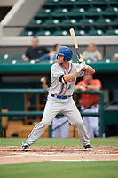 St. Lucie Mets catcher Patrick Mazeika (11) at bat during the second game of a doubleheader against the Lakeland Flying Tigers on June 10, 2017 at Joker Marchant Stadium in Lakeland, Florida.  Lakeland defeated St. Lucie 9-1.  (Mike Janes/Four Seam Images)