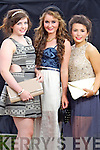 Shauna O'Dowd (Tralee) Siobhan Breen (Tralee) Eily Fokseang (Tralee) pictured at the Rose of Tralee fashion show in the Dome on Sunday night.