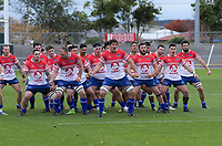 Horowhenua Kapiti peform a haka before the preseason provincial rugby match between Horowhenua Kapiti and Wellington at Levin Domain in Levin, New Zealand on Monday, 4 May 2018. Photo: Dave Lintott / lintottphoto.co.nz
