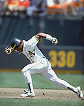 JUNE 1982:  Rickey Henderson #35 of the Oakland Athletics runs the bases during a game. Rickey Henderson played for the Oakland Athletics from 1979-1984. (Photo by Rich Pilling)