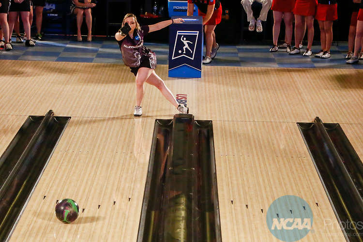BATON ROUGE, LA - APRIL 15: Taylor Bailey #1 of the McKendree Bearcats bowls during the Division I Women's Bowling Championship held at the Baton Rouge River Center on April 15, 2017 in Baton Rouge, Louisiana. (Photo by Tim Nwachukwu/NCAA Photos via Getty Images)