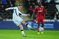 George Byers of Swansea City in action during the Sky Bet Championship match between Swansea City and Fulham at the Liberty Stadium in Swansea, Wales, UK. Friday 29 November 2019