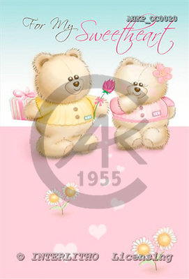 Samantha, CUTE ANIMALS, paintings,+bears,++++,AUKPOC0020,#AC# illustrations, pinturas ,everyday