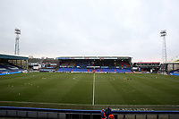 A general view of Boundary Park, home of Oldham Athletic FC ahead of during the Sky Bet League 1 match between Oldham Athletic and Rotherham United at Boundary Park, Oldham, England on 13 January 2018. Photo by Juel Miah / PRiME Media Images.