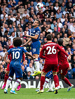 Cesar Azpilicueta of Chelsea during the Premier League match between Chelsea and Liverpool at Stamford Bridge, London, England on 22 September 2019. Photo by Liam McAvoy / PRiME Media Images.