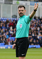 Referee Eddie Ilderton in action<br /> <br /> Photographer David Shipman/CameraSport<br /> <br /> The EFL Sky Bet League One - Peterborough United v Fleetwood Town - Friday 14th April 2016 - ABAX Stadium  - Peterborough<br /> <br /> World Copyright &copy; 2017 CameraSport. All rights reserved. 43 Linden Ave. Countesthorpe. Leicester. England. LE8 5PG - Tel: +44 (0) 116 277 4147 - admin@camerasport.com - www.camerasport.com