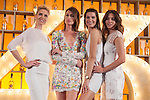 Spanish models (L-R) Judit Masco, Nieves Alvarez, Laura Sanchez and Jose Toledo pose during Licor 43 presentation in Madrid, Spain. January 29, 2015. (ALTERPHOTOS/Victor Blanco)