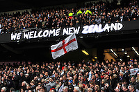 A general view of an England flag in the crowd. QBE International match between England and New Zealand on November 8, 2014 at Twickenham Stadium in London, England. Photo by: Patrick Khachfe / Onside Images