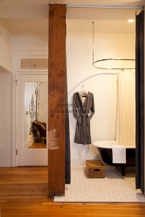 Room number 315, a junior deluxe suite at The Ace Hotel in downtown Portland, a hip budget boutique hotel.
