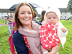 Lucy Carter winner of the bonny baby competition pictured with her mam  Linda at Yellowbatter sports day. Photo: Colin Bell/pressphotos.ie