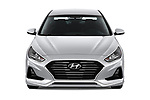 Car photography straight front view of a 2018 Hyundai Sonata Eco 4 Door Sedan