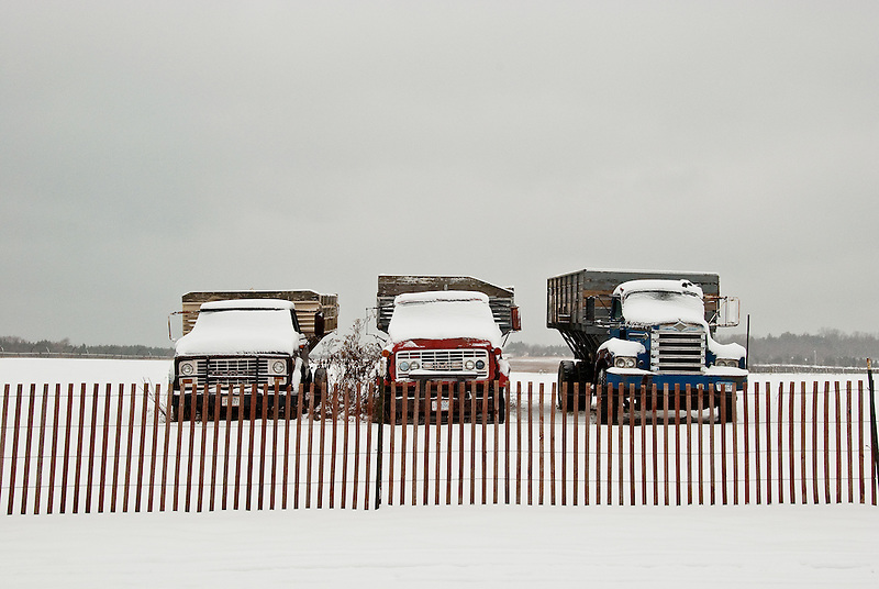 Farm Trucks in the Snow<br />
